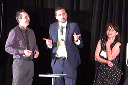 Corporate Entertainment Ontario by master magician Aaron Paterson.  Two volunteers assist Aaron in a Hilarious effect.