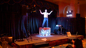 Aaron Paterson provides corporate entertainment with his uniques illusions.