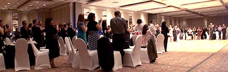 Event entertainment professional from Toronto receives a Standing Ovation from CGA members.