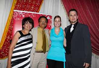 Aaron his assistant, Dr. Rakesh Kumar and his lovely wife.