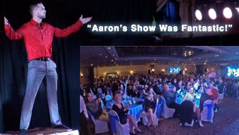 Aaron Paterson performs for Napolean in Ontario to Rave Reviews