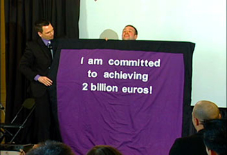 Keynote Speaker from Ontario delivers a custom message for Puratos.